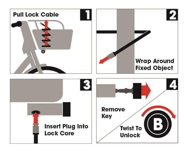 Bike lock graphic